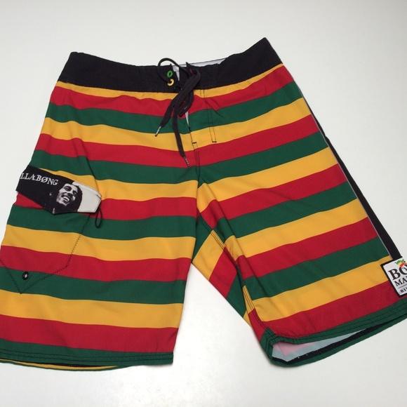 343e0aafd1 Billabong Swim | Bob Marley Rasta Trunks Reggae Surf | Poshmark